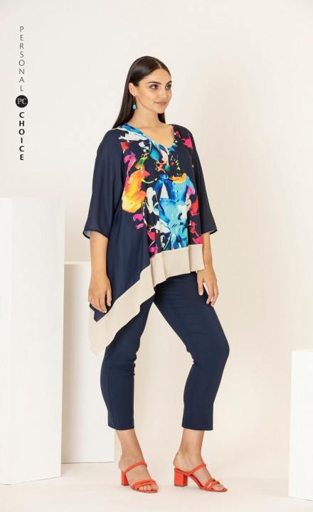 Personal Choice SS20 - Abstract Pattern Navy Top